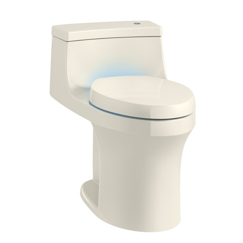 Kohler K-8687-96 San Souci Touchless with Purefresh Comfort Height One-Piece Compact Elongated 1.28 gpf Toilet with AquaPiston Flushing Technology - Biscuit