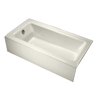 Kohler K-875-96 Bellwether Bath With Integral Apron and Left Hand Drain - Biscuit