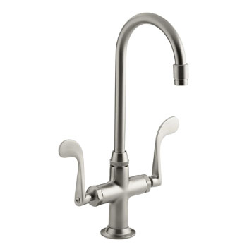 Kohler K-8761-BN Essex Entertainment Sink Faucet w/Wristblade Handles - Brushed Nickel