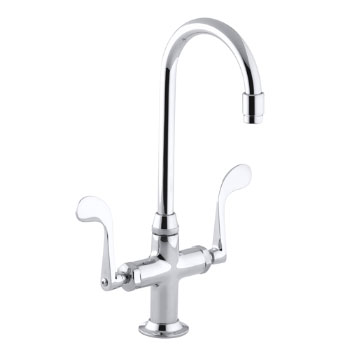 Kohler K-8761-CP Essex Entertainment Sink Faucet w/Wristblade Handles - Polished Chrome