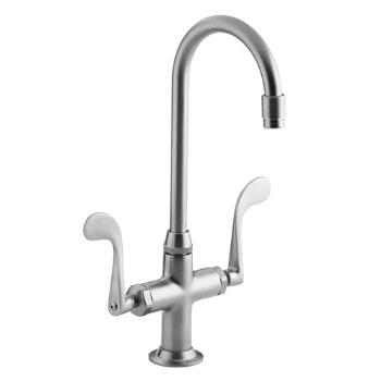 Kohler K-8761-G Essex Entertainment Sink Faucet w/Wristblade Handles - Brushed Chrome