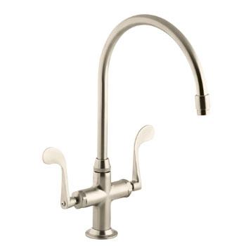 Kohler K-8762-BV Essex Kitchen Sink Faucet w/Wristblade Handles - Brushed Bronze