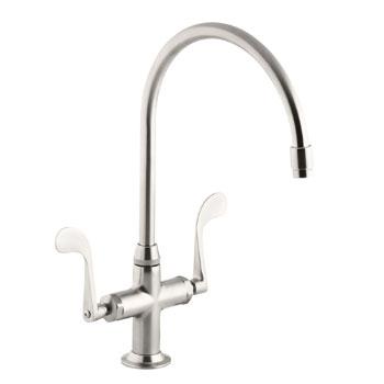 Kohler K-8762-VS Essex Faucet w/Wristblade Handles - Vibrant Stainless