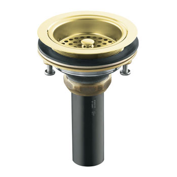 K-8801-PB Kohler Duostrainer Basket Strainer with Tailpiece - Polished Brass