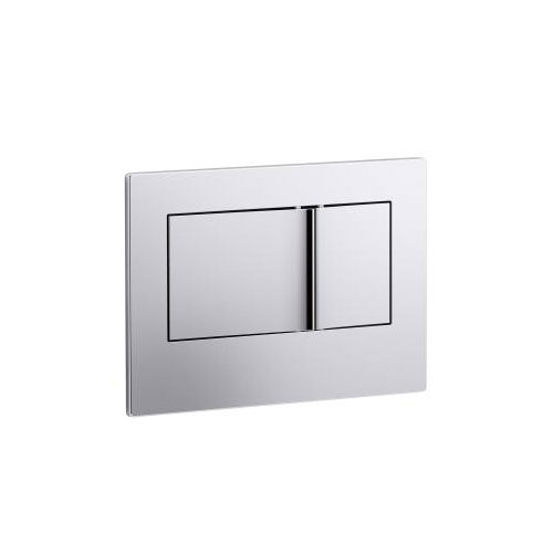Kohler K-8857-CP Bevel Flush Actuator Plate for 2 in x 4 in In-wall Tank and Carrier System - Chrome