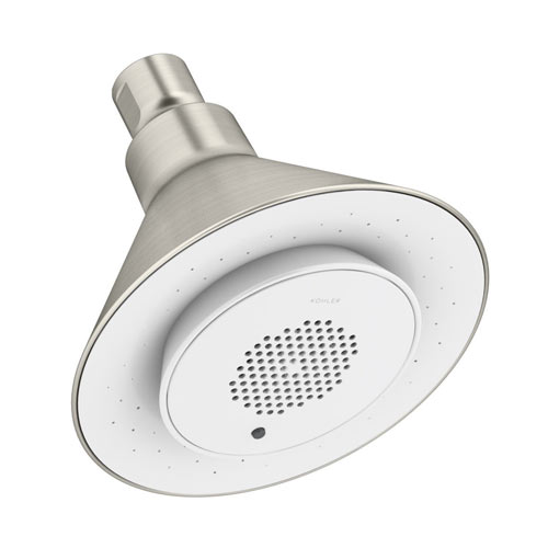 Kohler K-9245-BN Moxie 2.5 gpm Single Function Showerhead with Wireless Speaker - Brushed Nickel