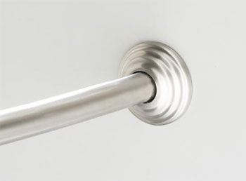 Kohler K-9349-BS Expanse Traditional Design Curved Shower Rod - Brushed Stainless