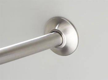 Kohler K-9350-S Expanse Transitional Design Curved Shower Rod - Polished Stainless (Pictured in Brushed Stainless)