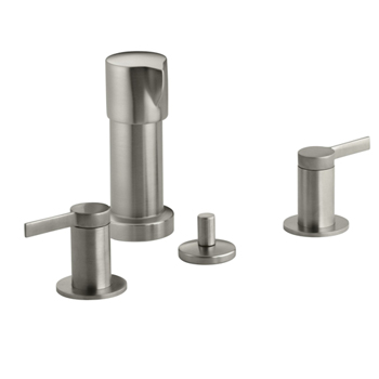 Kohler K-960-4-BN Stillness Widespread Bidet Faucet with Lever Handles - Brushed Nickel