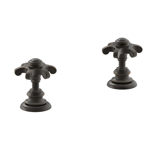 Kohler K-98068-3M-2BZ Artifacts Bathroom Sink Prong Handles - Oil Rubbed Bronze