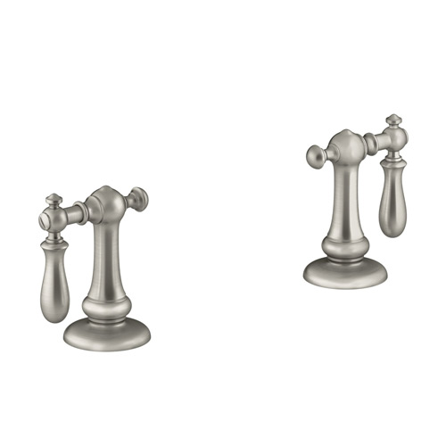 Kohler K-98068-9M-BN Artifacts Bathroom Sink Swing Lever Handles - Brushed Nickel