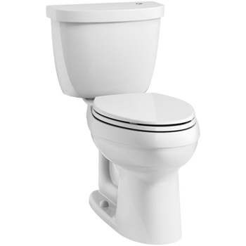 Kohler K-99249-0 Cimarron Touchless Comfort Height Complete Solution Two Piece 1.28 GPF Elongated Toilet with AquaPiston Flushing - White