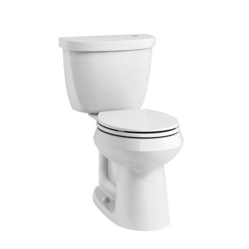 Kohler K-99250-0 Cimarron Comfort Height Two Piece Round Front 1.28 gpf Touchless Toilet with AquaPiston Flushing Technology - White