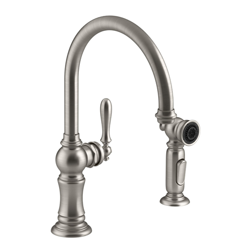Kohler K 99262 Vs Artifacts 2 Hole Kitchen Sink Faucet With 14 11 16
