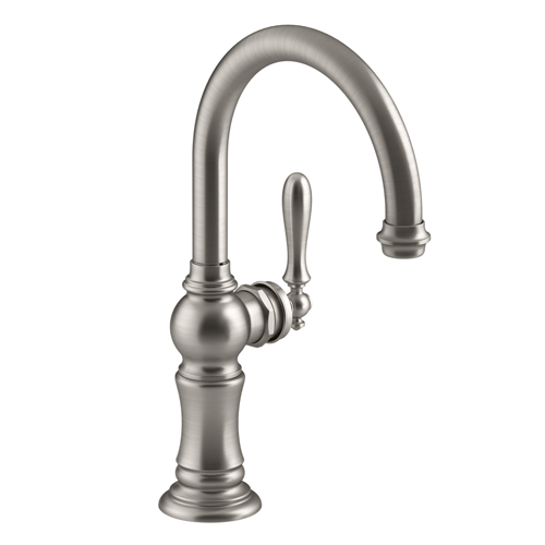 Kohler K-99264-VS Artifacts Single Hole Bar Sink Faucet with 13-1/16