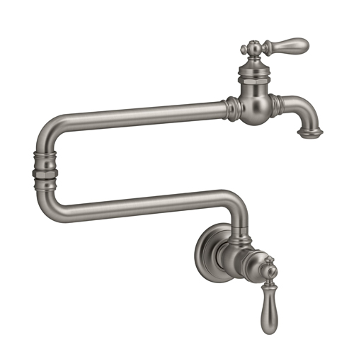 Kohler K-99270-VS Artifacts Single Hole Wall Mount Pot Filler Kitchen Sink Faucet with 22