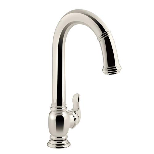Kohler K-99332-SN Beckon Electronic Pulldown Kitchen Sink Faucet - Polished Nickel