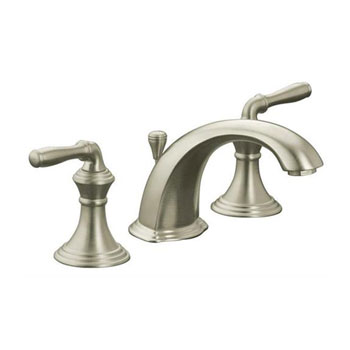 Kohler K-R394-4-BN Devonshire Two Handle Widespread Lavatory Faucet with Pop Up Drain - Brushed Nickel