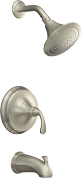 Kohler K-T10274-4-BN Forte Single Handle Pressure Balanced Tub & Shower Trim Kit - Brushed Nickel