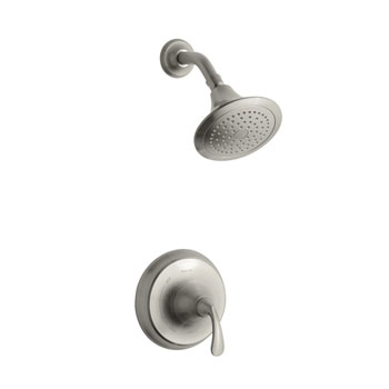 Kohler K-T10276-4-BN FortT Rite Temp Pressure Balancing Single Handle Shower Only Trim Set in Brushed Nickel