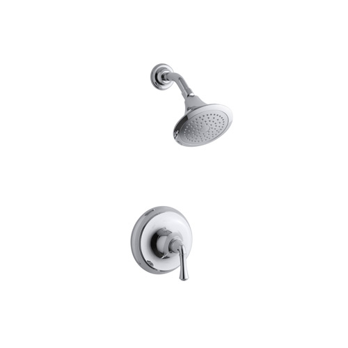 Kohler K-T10276-4AE-CP Forte Traditional Rite Temp Pressure Balancing Shower Trim Set, Valve Not Included - Chrome