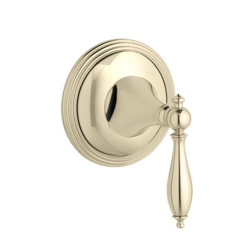 Kohler K-T10303-4M-AF Finial Traditional Volume Control Valve Trim with Lever Handle - French Gold (Valve Not Included)
