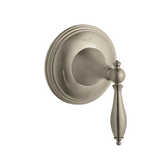 Kohler K-T10303-4M-BV Finial Traditional Volume Control Valve Trim with Lever Handle - Brushed Bronze (Valve Not Included)