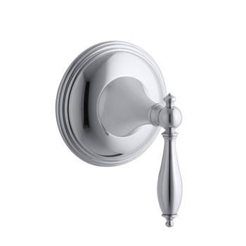 Kohler K-T10304-4M-CP Finial Traditional Transfer Valve Trim with Lever Handle - Chrome (Valve Not Included)