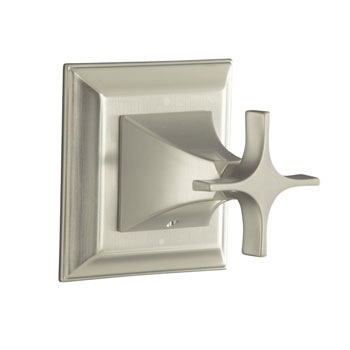 Kohler K-T10424-3S-BN Memoirs Stately Transfer Valve Trim with Cross Handle - Brushed Nickel