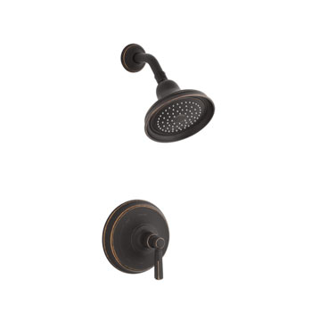 Kohler K-T10583-4-2BZ Bancroft Rite-Temp Pressure Balancing Shower Trim Only - Oil Rubbed Bronze