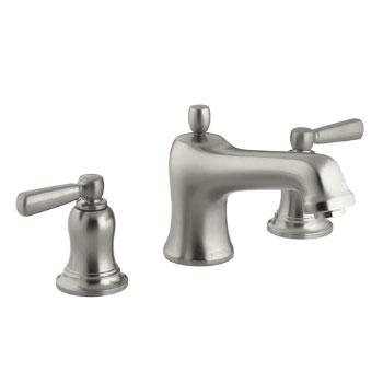 Kohler K-T10585-4-BN Bancroft Deck-Mount High-Flow Bath Faucet Trim - Brushed Nickel