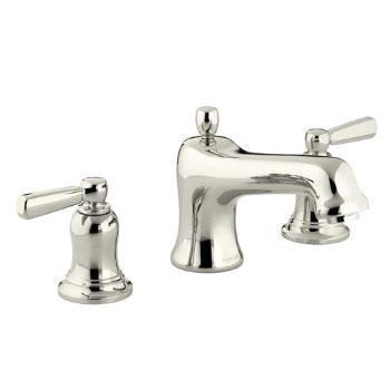 Kohler K-T10585-4-SN Bancroft Deck-Mount High-Flow Bath Faucet Trim - Polished Nickel