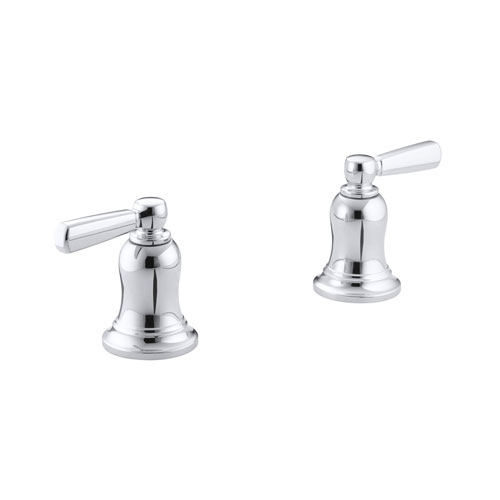Kohler K-T10587-4-CP Bancroft Deck-mount High-flow Bath Valve Trim with Metal Lever Handles, Valve Not Included - Chrome