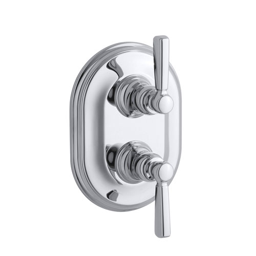 Kohler K-T10594-4-CP Bancroft Double Metal Lever Handle Thermostatic Trim - Polished Chrome