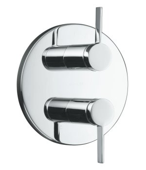 Kohler K-T10941-4-CP Stillness Stacked Thermostatic Valve Trim Only - Chrome