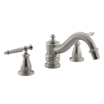 Kohler K-T125-4-BN Antique Deck-Mount High-Flow Bath Faucet Trim Only - Brushed Nickel