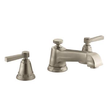 Kohler K T13140 4a Bv Pinstripe Pure Design Deck Mount Bath Faucet Trim W Lever Handles