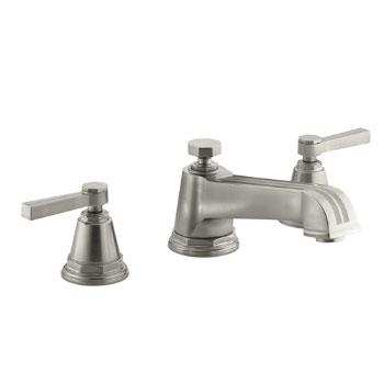 Kohler K T13140 4b Bn Pinstripe Deck Mount Bath Faucet Trim W Lever Handles Brushed Nickel