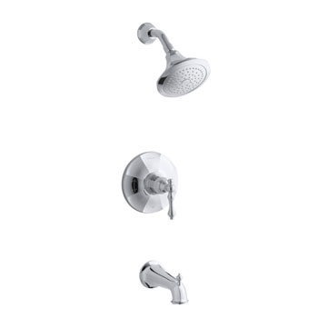 Kohler K-T13492-4E-2BZ Kelston Rite Temp Pressure Balancing Bath and Shower Faucet Trim - Oil Rubbed Bronze (Pictured in Chrome)