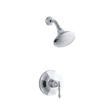 Kohler K-T13493-4E-2BZ Kelston Rite Temp Shower Faucet Trim - Oil Rubbed Bronze (Pictured in Chrome)