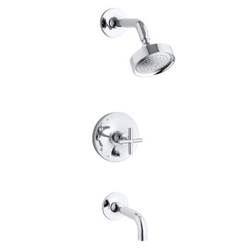 Kohler K-T14421-3-CP Purist One Handle Tub & Shower Faucet Trim Kit - Polished Chrome
