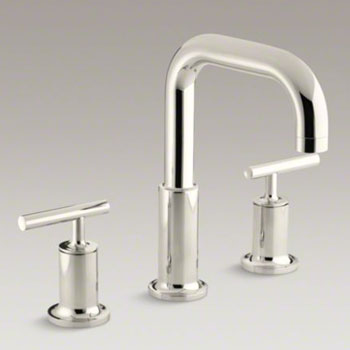 Kohler K-T14428-4-SN Purist Two Handle Roman Tub Faucet Trim Kit - Polished Nickel