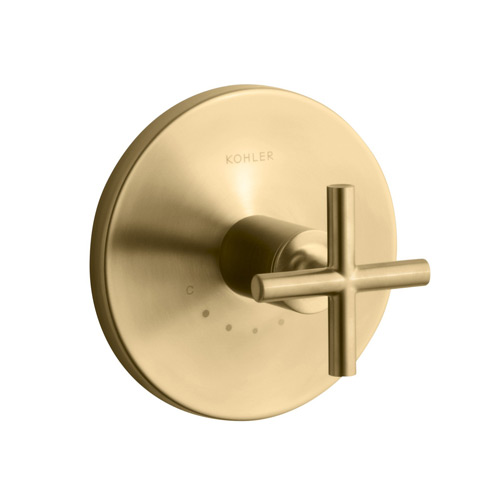 Kohler K-T14488-3-BGD Purist One Handle Thermostatic Control Faucet Trim Kit - Brushed Gold