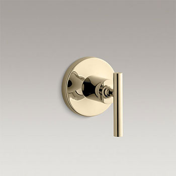 Kohler K-T14491-4-AF Purist Transfer Valve Trim with Lever Handle - Vibrant French Gold
