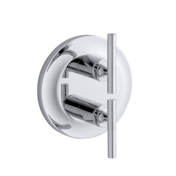 Kohler K-T14489-4-CP Purist Two Handle Stacked Valve Trim Kit - Polished Chrome