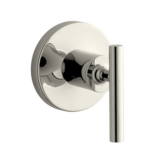 Kohler K-T14491-4-SN Purist Valve Trim with Lever Handle for Transfer Valve - Polished Nickel