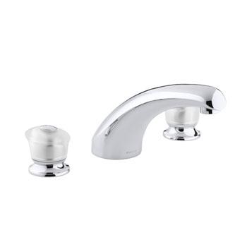 Kohler K-T15290-7-CP Two Handle Roman Tub Faucet Trim Kit - Polished Chrome