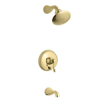 Kohler K-T16115-4-PB Revival One Handle Tub & Shower Faucet Trim Kit - Polished Brass