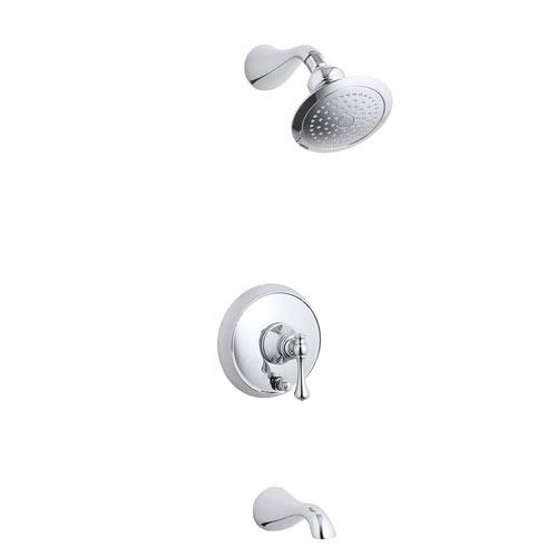 Kohler K T16115 4a Cp Revival One Handle Tub Shower Faucet Trim Kit Polished Chrome Faucetdepot Com