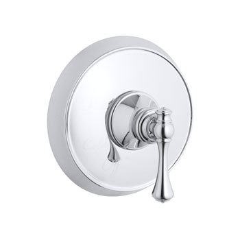 Kohler K-T16117-4A-CP Revival Rite Temp Pressure Balancing Shower Valve Trim with Traditional Lever Handle - Chrome